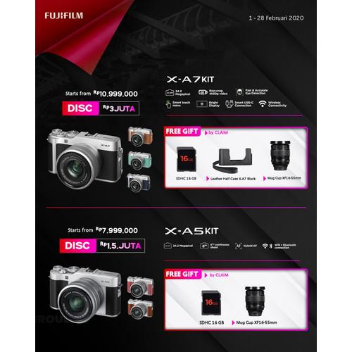 Foto Produk Fujifilm XA7 / X-A7 Kit XC 15-45mm Fujifilm Indonesia - TasKameraID dari taskamera-id
