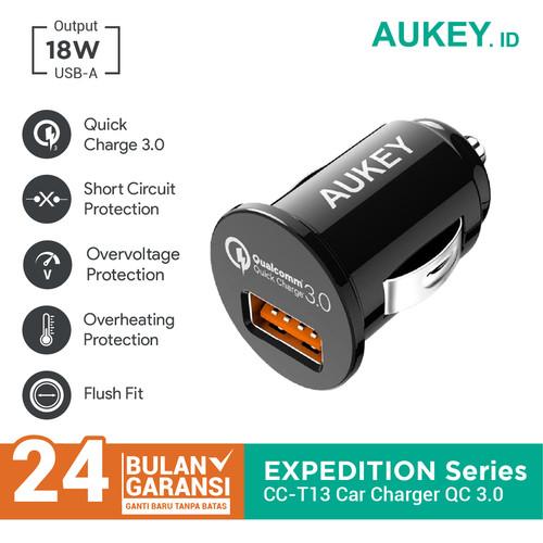 Foto Produk Aukey Car Charger 1 Port 18W USB QC 3.0 - 500195 dari AUKEY