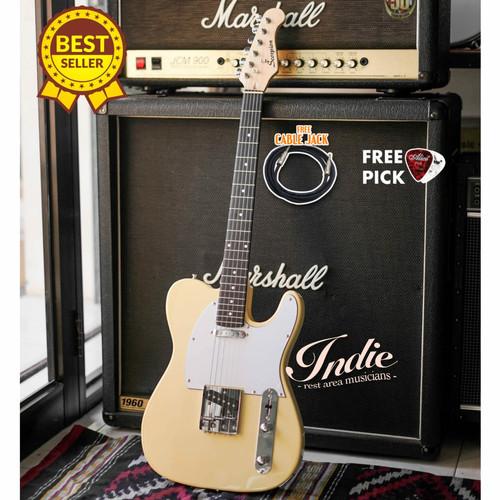 Foto Produk Gitar Elektrik Scorpion Telecaster MS102 YW Yellow Original Bergaransi dari INDIE MUSIC INSTRUMENT