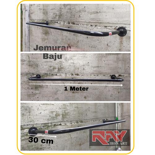 Foto Produk Gantungan Baju Jemuran Dinding Gantungan Serbaguna - Hitam dari yusup rr