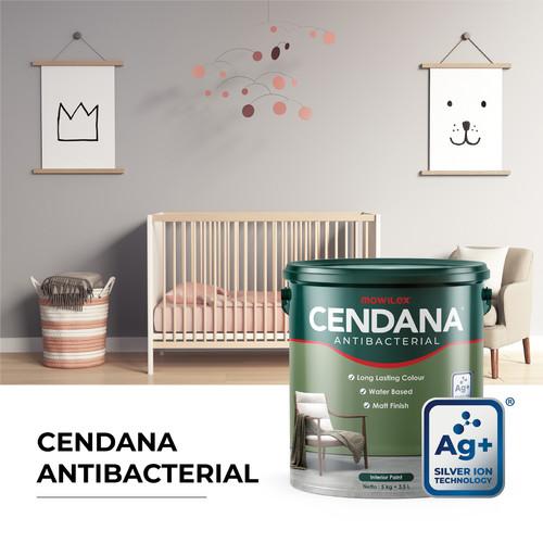 Foto Produk Cendana Antibacterial Cat Tembok Interior - 5 Kg - Putih dari Mowilex Official Store