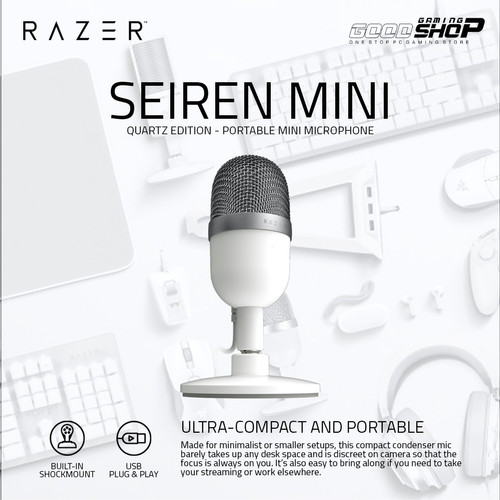 Foto Produk Razer Seiren Mini - Gaming Microphone - MERCURY dari GOODGAMINGM2M