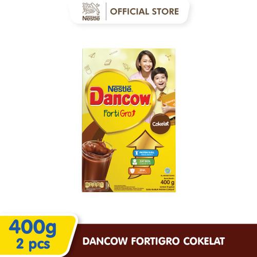 Foto Produk Nestlé DANCOW FortiGro Susu Bubuk Cokelat Usia Sekolah Box 400g 2 pcs dari Nestle Indonesia