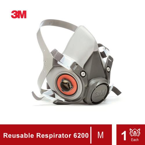 Foto Produk 3M Half Facepiece Reusable Respirator 6200 (Masker 3M 6200) dari 3M