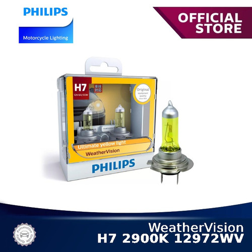 Foto Produk WeatherVision H7 2900K 12972WV Bola Lampu Motor Philips dari Philips Moto