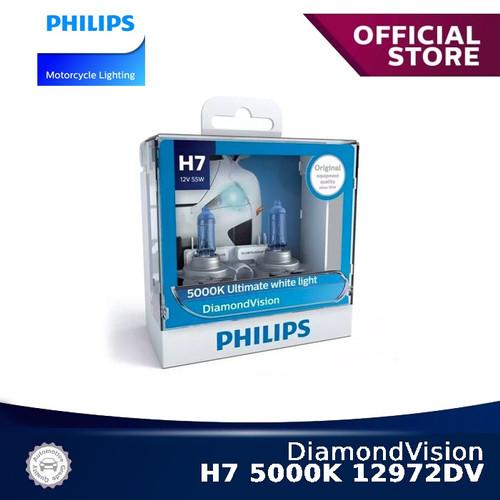Foto Produk DiamondVision H7 5000K 12972DV Bola Lampu Motor Philips dari Philips Moto