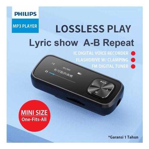 Foto Produk MP3 Player 32GB - IC Recorder - FM - OTG - Sports Clamp Philips SA1102 dari EtalaseBelanja