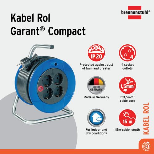 Foto Produk Brennenstuhl Kabel Rol Garant Compact 15m - 1079180004 dari Brennenstuhl Indonesia