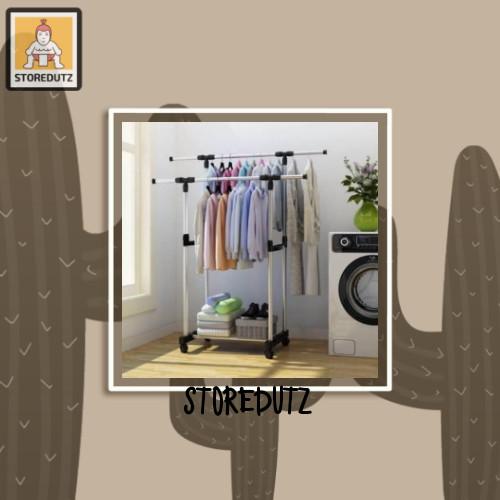 Foto Produk stand hanger double pole baju dari StoreDutz