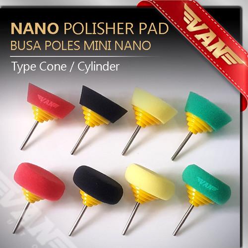 Foto Produk Busa Poles Mini Nano Polisher / Polisher Pad Mini / Nano Mini Pad Spon - Type Cone dari VANAUTO