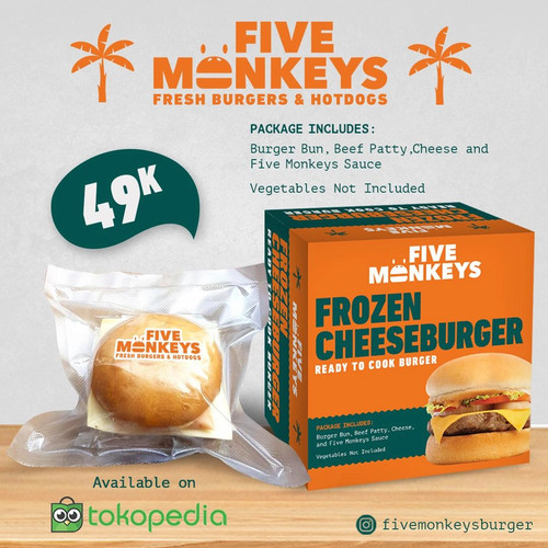 Foto Produk Cheeseburger (Frozen Burger) dari Five Monkeys Burger