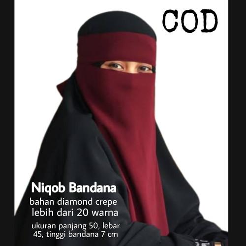 Foto Produk CADAR NIQOB BANDANA BAHAN DIAMOND CREPE - Putih dari Hijab Instant Grosir