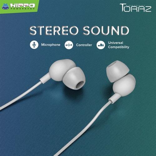 Foto Produk Hippo Wired Headset/Handsfree/Earphone Toraz - Stereo Sound - Hitam dari CX Shop Official
