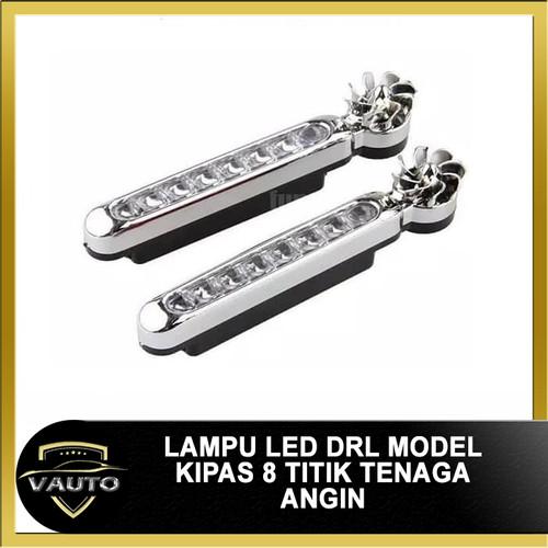 Foto Produk Lampu LED DRL Model Kipas 8 Mata Tenaga Angin 8 Titik dari vauto
