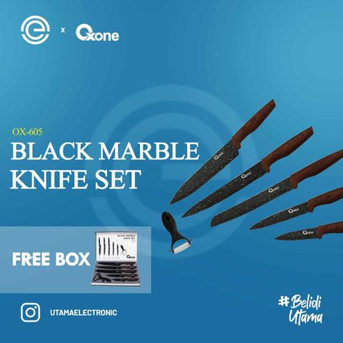 Foto Produk OXONE Black Marble Knife Set OX-605 dari UTAMA_ELECTRONIC