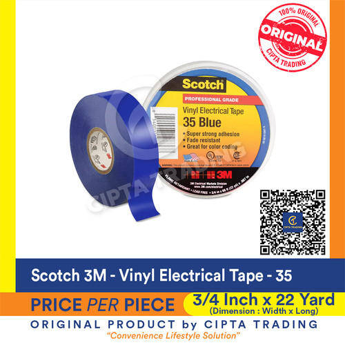 Foto Produk 3M Scotch 35 Vinly Electrical Tape dari Cipta Trading