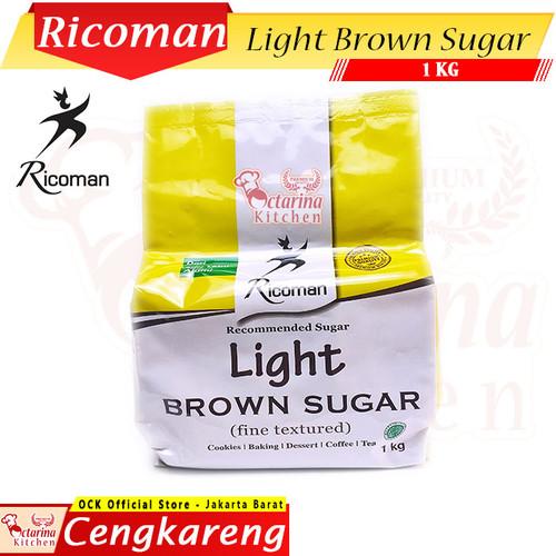 Foto Produk RICOMAN Light Brown Sugar 1 Kg - Halal - Gula Ricoman 1Kg dari Octarina Kitchen