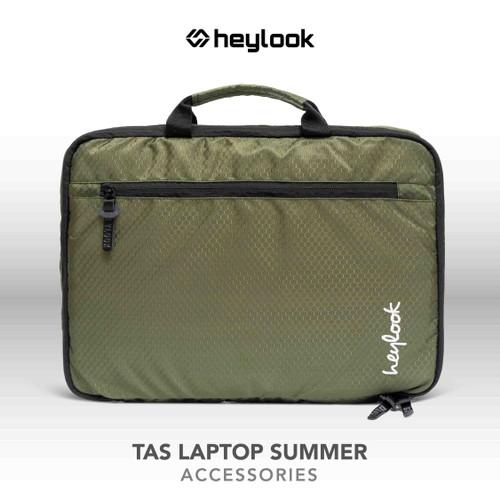 """Foto Produk TAS LAPTOP TAS NOTEBOOK CASE LEPTOP PELINDUNG COVER LAPTOP 14"""" INCH - Hijau dari Heylook Official"""
