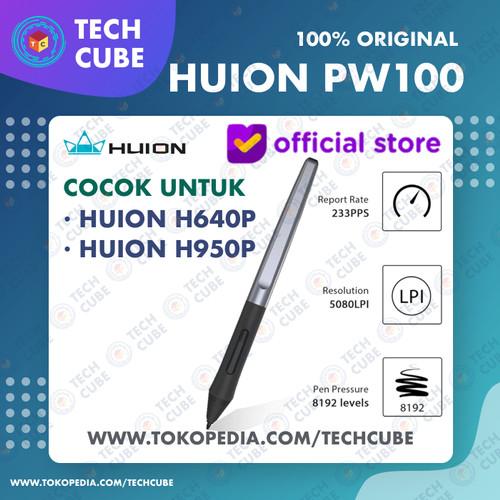 Foto Produk Huion Stylus Pen PW100 Drawing Tablet H640P H950P H1060P HS64 H320M dari Tech Cube