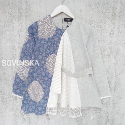 Foto Produk Atasan Batik M33 New BlueGrey - M dari Sovinska