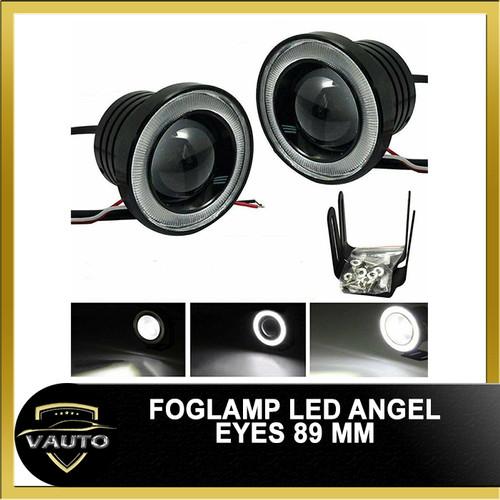 Foto Produk LED FOGLAMP / FOGLIGHT ANGEL EYES 89MM PROJECTOR UNIVERSAL - Putih dari vauto