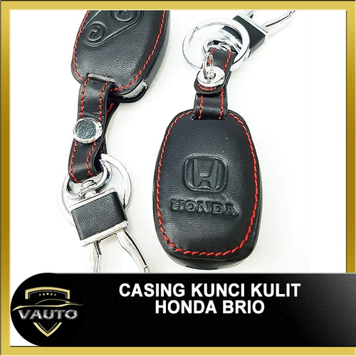 Foto Produk Casing Kunci Kulit Remote Kunci Honda Brio Jazz Mobilio dari vauto
