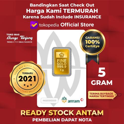 Foto Produk 5GR(GRAM)LOGAM MULIA /LOGAM MULIA ANTAM /EMAS ANTAM BERSERTIFIKAT dari Bunga Tanjung Gold