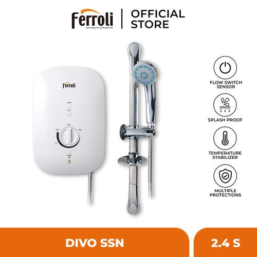 Foto Produk Ferroli Instant Electric Water Heater Divo Series SSN 2.4S dari Ferroli Official Store