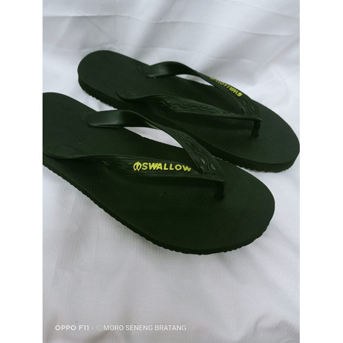 Foto Produk sandal japit SWALLOW M 01 black hitam size 12 / 45 - Swallow dari toko moro seneng