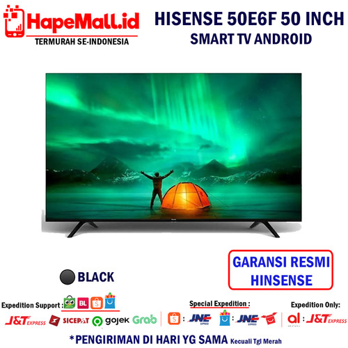 Foto Produk HISENSE 50 Inch Smart Tv LED 4K UHD TV - 50E6F Garansi Resmi Termurah - Hitam dari Hapemall.id
