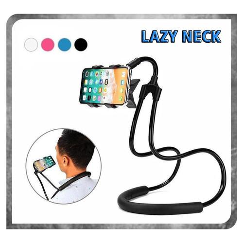 Foto Produk Lazy neck cell phone stan mount necklace / holder HP leher - CEWEK dari K2 Official Store