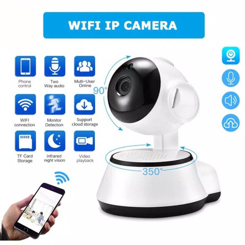 Foto Produk IP Camera Wifi CCTV V380 HD960P Q3S Wireless IP Kamera APP Control dari SmartClick