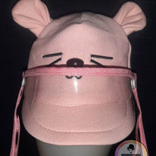 Foto Produk Topi Face Shield baby motif kucing - Pink dari topivanjava