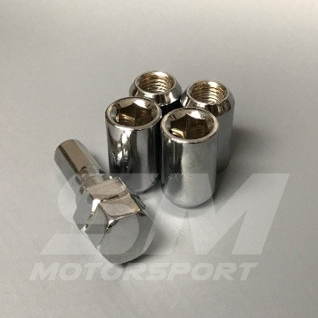 Foto Produk Mur Baut Lugnut / Lug Nut Roda Velg Ban 1,5 Chrome Silver Wheel Lock dari YopieSMmotor