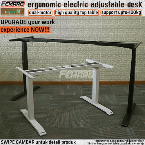 Foto Produk electric adjustable table base FEMARG regola-01   kaki meja elektrik - Putih dari PMM hardware serpong