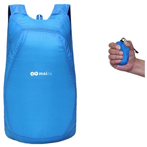 Foto Produk Mairu ZD-15 Tas Ransel Travel Lipat Anti Air - Foldable Backpack Water - Biru Muda dari TokoUsbcom