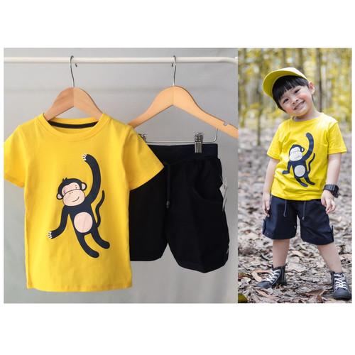 Foto Produk Setelan anak cowo kuning monkeyy size 1,2,3tahun murah - size 1 dari baby smile