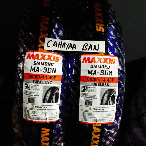 Foto Produk PROMO BAN LUAR MAXXIS TUBLES MOTOR MATIC U 90/80-14& 100/80-14 DIAMON dari cahayaa ban