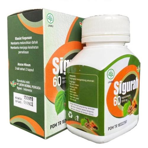 Foto Produk Kapsul Gurah Sigurah Herbal 60 BPOM | Sakit Tenggorokan Sesak Nafas dari HAZIDA
