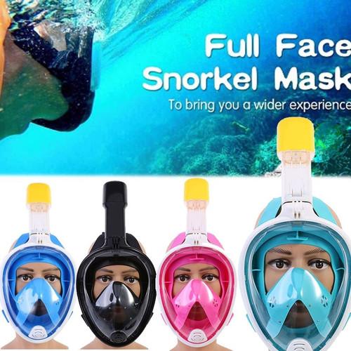 Foto Produk SNORKELING Full Face Snorkling Snorkel Diving Mask Scuba Snorkle Easy - Green XL dari Happy Indonesia
