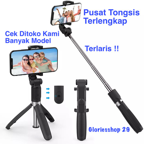 Foto Produk Tongsis Bluetooth Selfie Stick Remote Bluetooth Tripod Expandable !! dari Gloriesshop 29