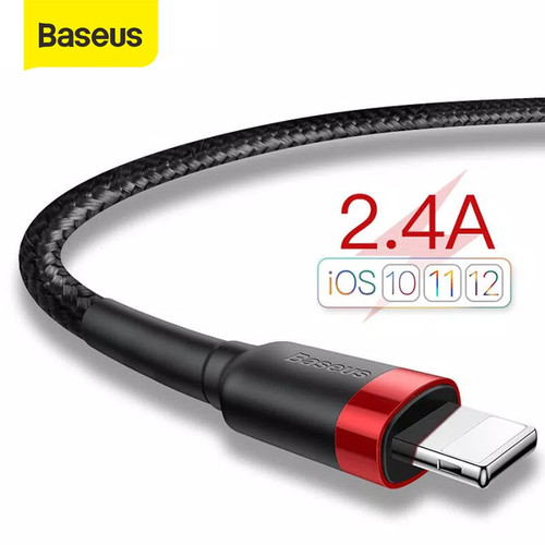 Foto Produk KABEL DATA IPHONE BASEUS CAFULE CABLE FOR LIGHTNING 2.4A 1M - Merah dari Baseus Official Store