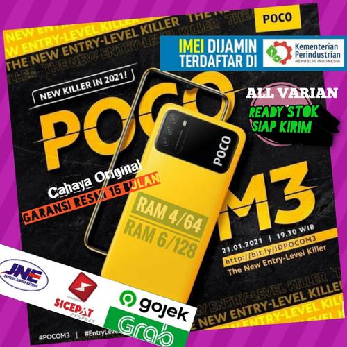 Foto Produk Poco M3 Ram 4/64 GB dan 6/128 GB Garansi Resmi TAM XIAOMI Indonesia - Ram 4-64 Gb, Biru dari Cahaya Original