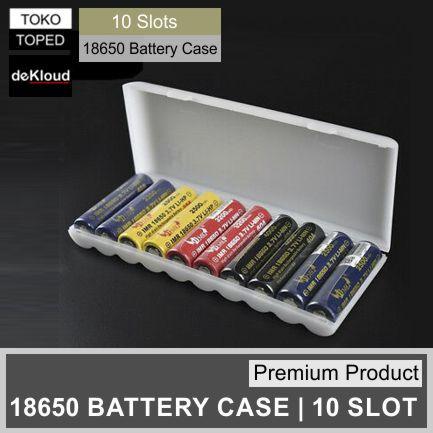 Foto Produk Premium 10 Slot 18650 Battery Case | box kotak baterai batre batere dari deKloud