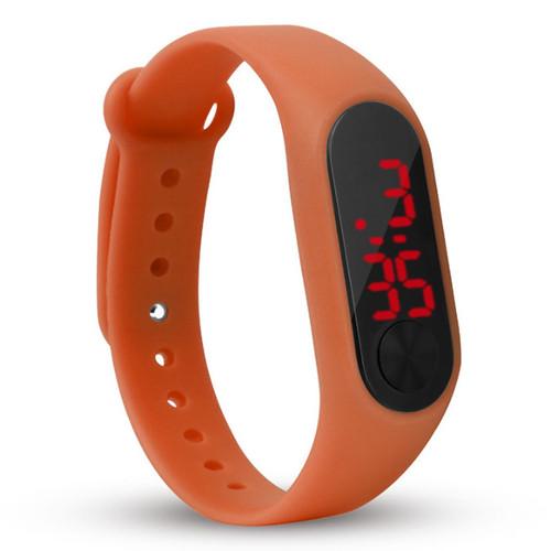 Foto Produk Semua Gratis - J169 Jam Tangan Band Watch / Jam Tangan Digital - Orange dari Semua Gratis