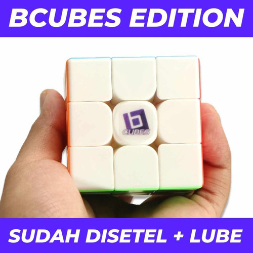 Foto Produk Rubik 3x3 BCUBES Moyu Meilong 3x3 Stickerless Original - Speedcube dari Balam Cubes