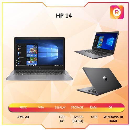 "Foto Produk Laptop HP 14 AMD A4 4GB 128GB (64+64) WINDOWS 10 14"" - PAKET ANTIGORES dari royalltech"