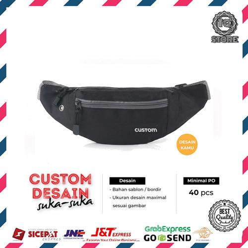 Foto Produk Waistbag Pria Custom Tas Slempang Desain Brand Logo Sendiri Tas Custom dari TQSTORE9