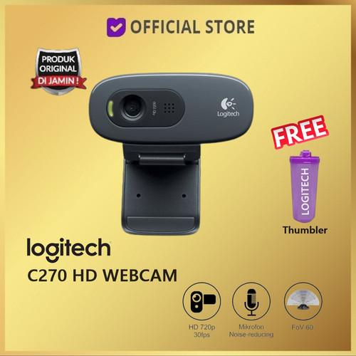 Foto Produk Logitech C270 Webcam HD 720P Web Cam C 270 - C270 dari DUNIA COMPUTER & SERVICE