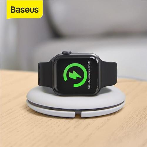Foto Produk BASEUS KABEL DATA WINDER FOR IP WATCH APPLE WATCH WIRELESS CHARGER - Putih dari Baseus Official Store